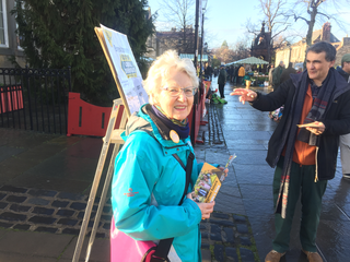 Haddington Famers Market - Brexitometer in Action 4